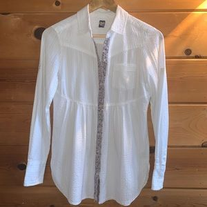 Free People Button Down Top Sz 4